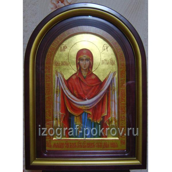 Икона Покров Пресвятой Богородицы в киоте