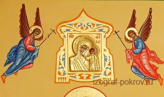 Оформление верхней части мерной иконы