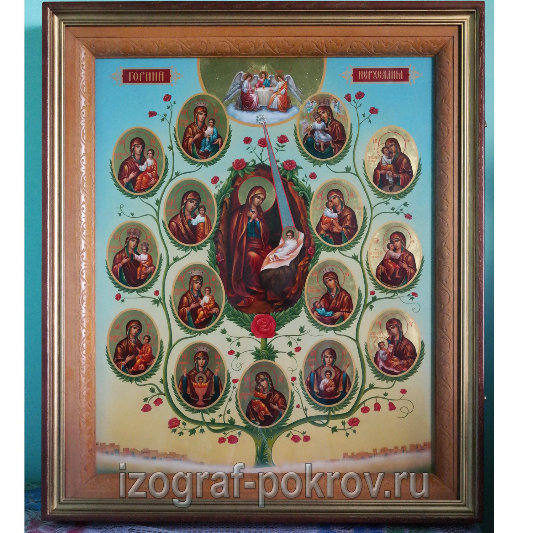 Икона Горний Иерусалим (Древо Пресвятой Богородицы) значение