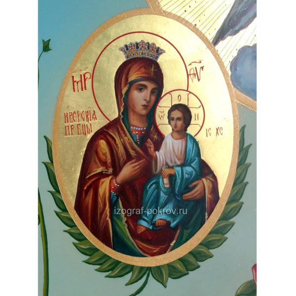 Икона Богородицы Иверская (Вратарница) фрагмент с иконы Горний Иерусалим чем помогает значение