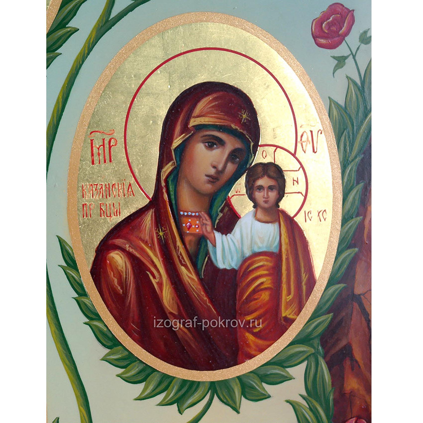 Икона Богородицы Казанская (фрагмент с иконы Горний Иерусалим) чем помогает значение