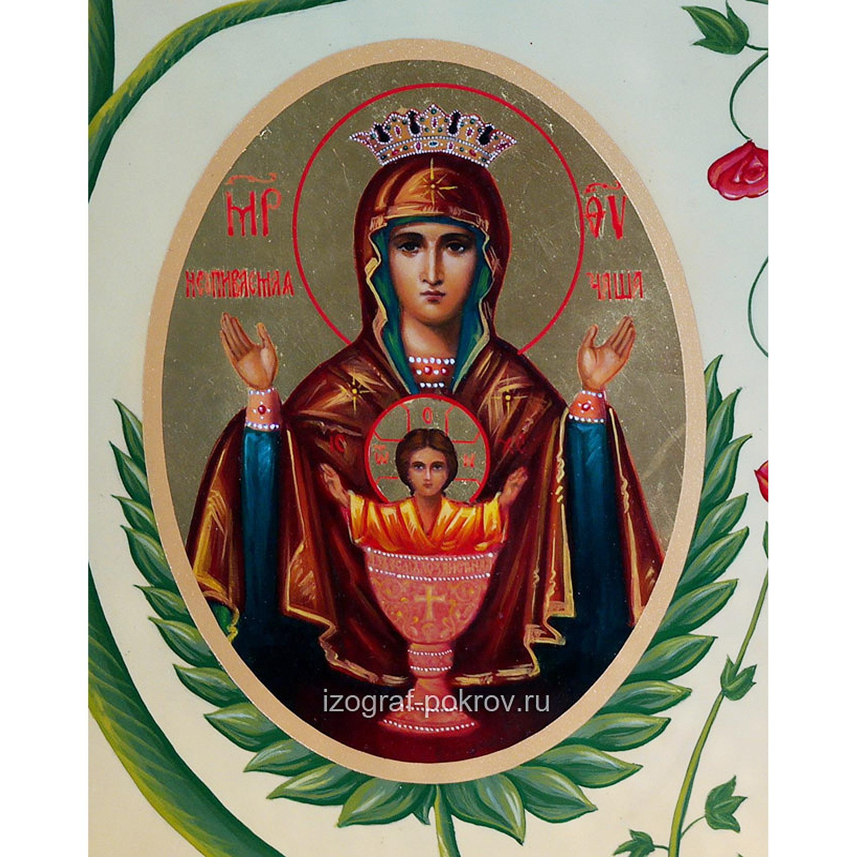 Икона Богородицы Неупиваемая Чаша (фрагмент с иконы Горний Иерусалим) чем помогает значение