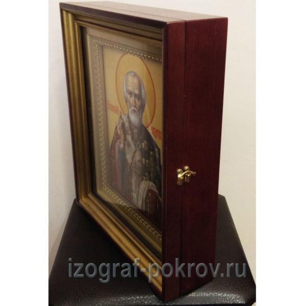 икона Николай Чудотворец в киоте