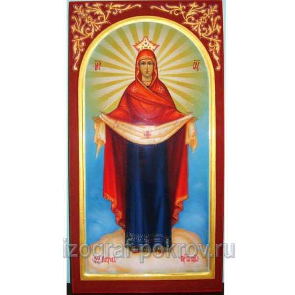 Мерная икона Покров Пресвятой Богородицы заказать в мастерской