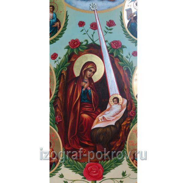 Икона Рождество Христово (фрагмент с иконы Горний Иерусалим) чем помогает значение