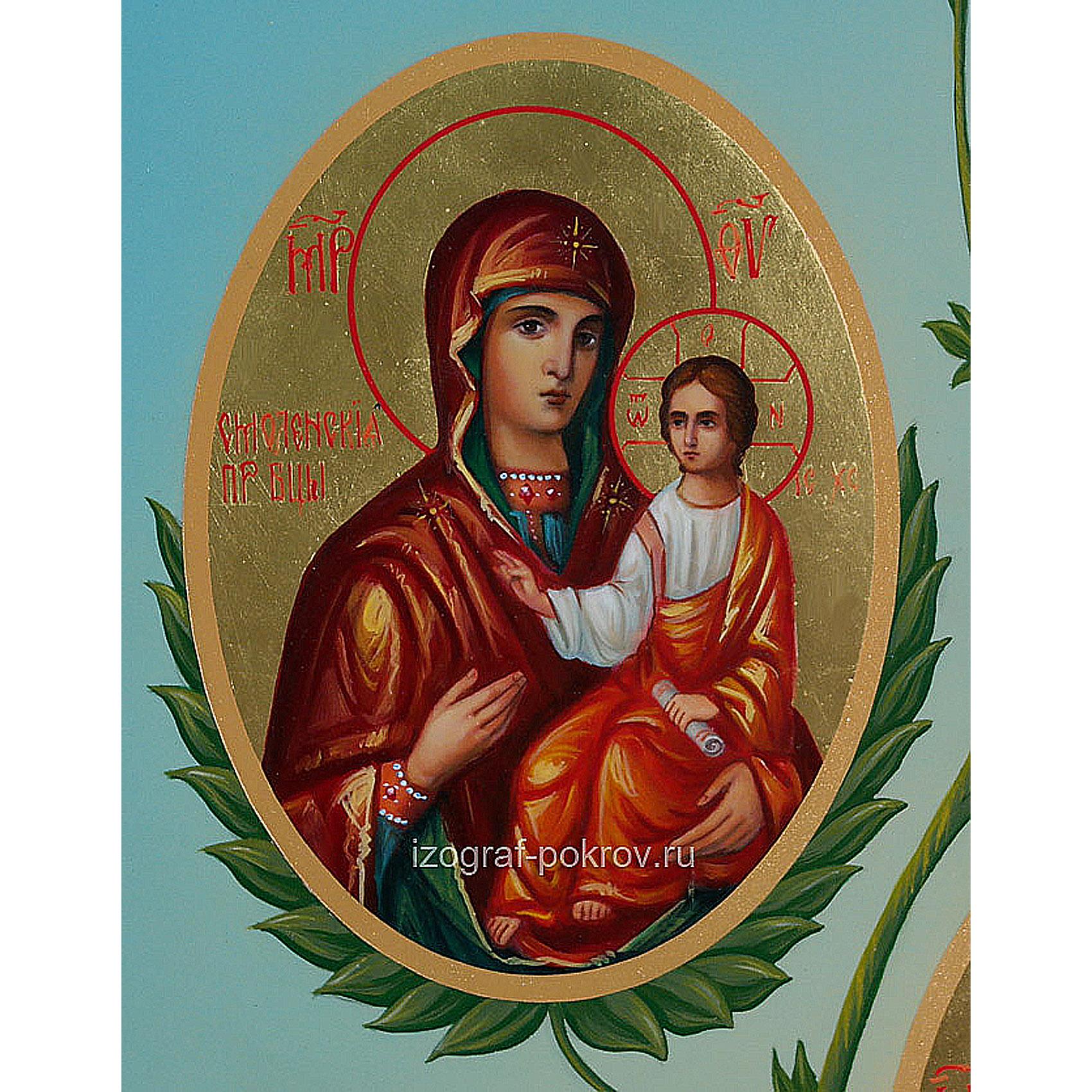 Икона Богородица Смоленская (фрагмент с иконы Горний Иерусалим) чем помогает значение