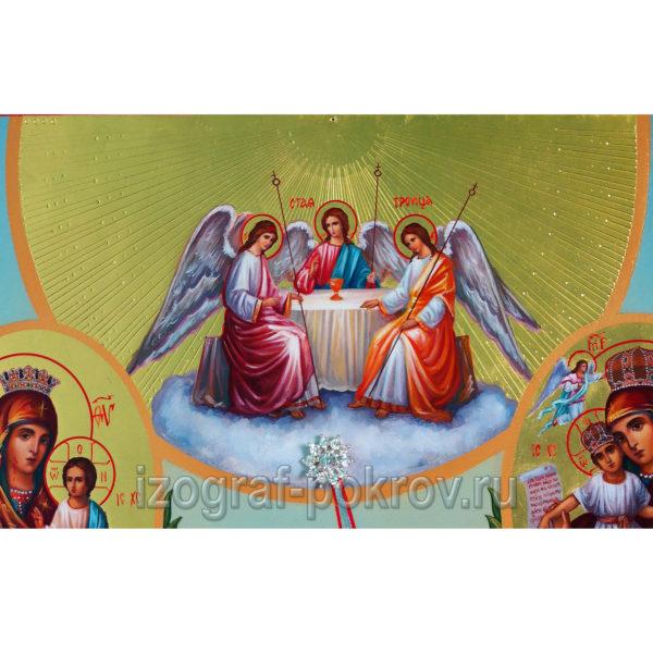 Икона Троица (фрагмент с иконы Горний Иерусалим) чем помогает значение