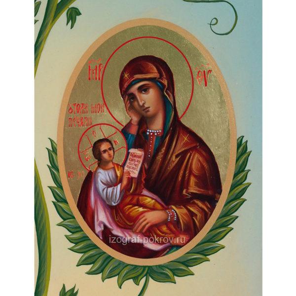 Икона Утоли моя печали Богородица (фрагмент с иконы Горний Иерусалим) чем помогает значение