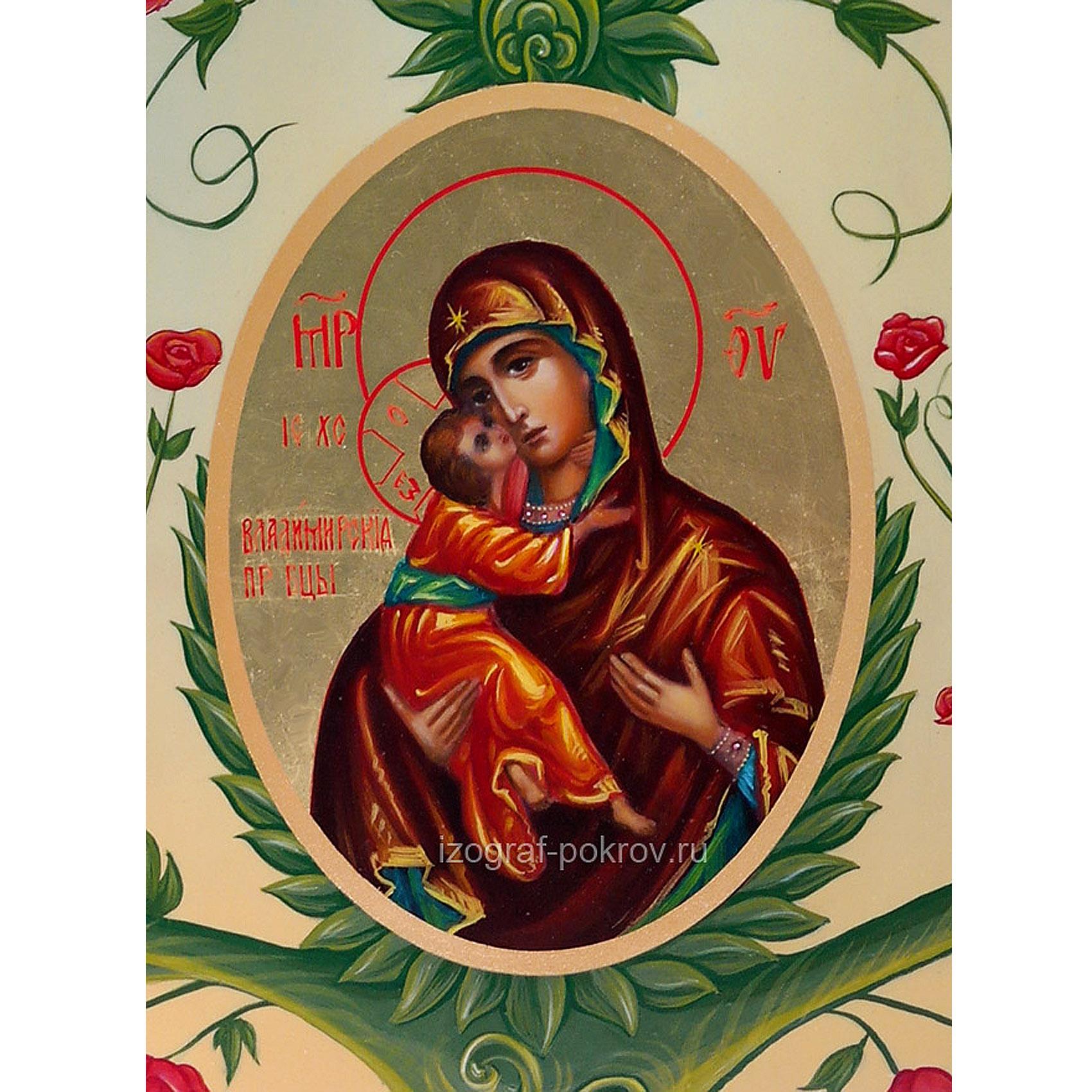 Икона Богородицы Владимирская - фрагмент с иконы Горний Иерусалим чем помогает значение