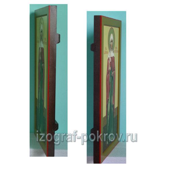 Мерная икона Ксения Петербургская вид сбоку