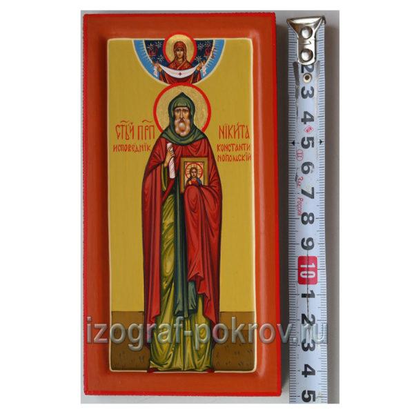 Высота миникопии иконы Никиты Константинопольского 15 см