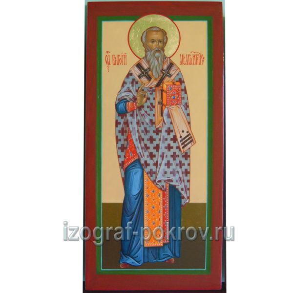 Икона мерная Григорий Акрагантийский