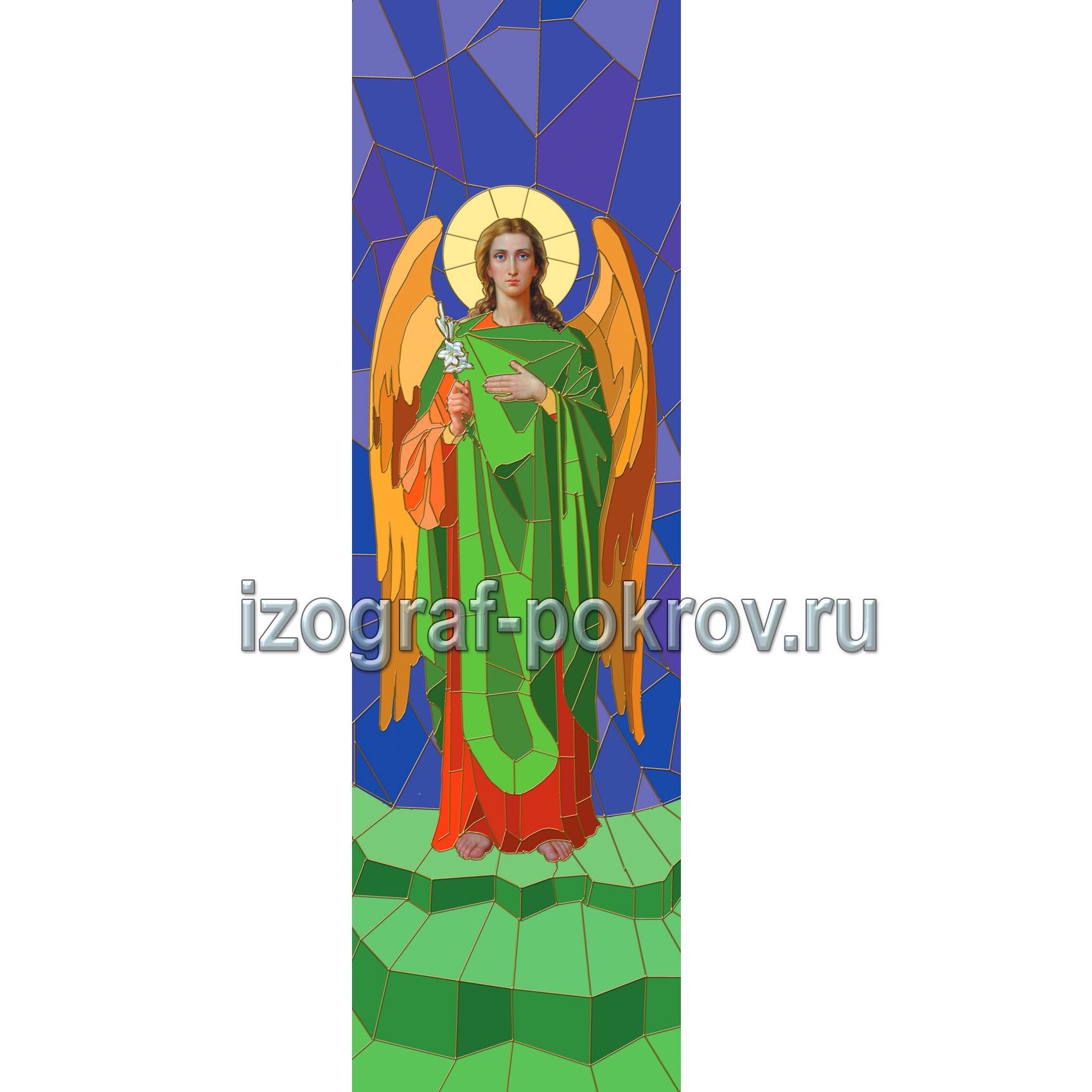 Арх Гавриил макет витража на окна для храма вариант 1