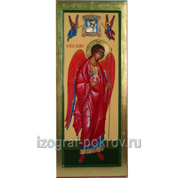 Мерная икона Архангела Михаила с миниатюрой Богородицы