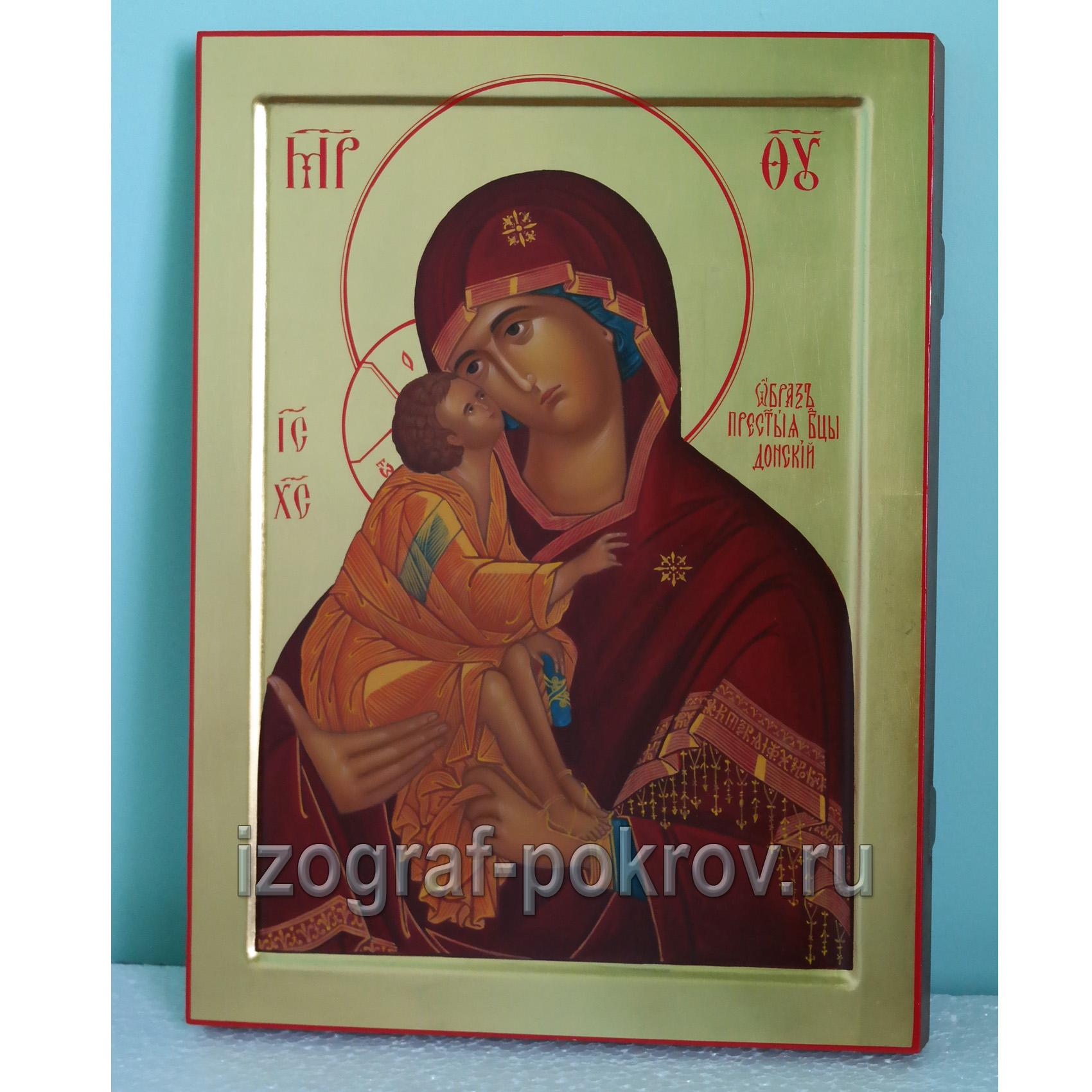 Икона Богородица Донская на золоте