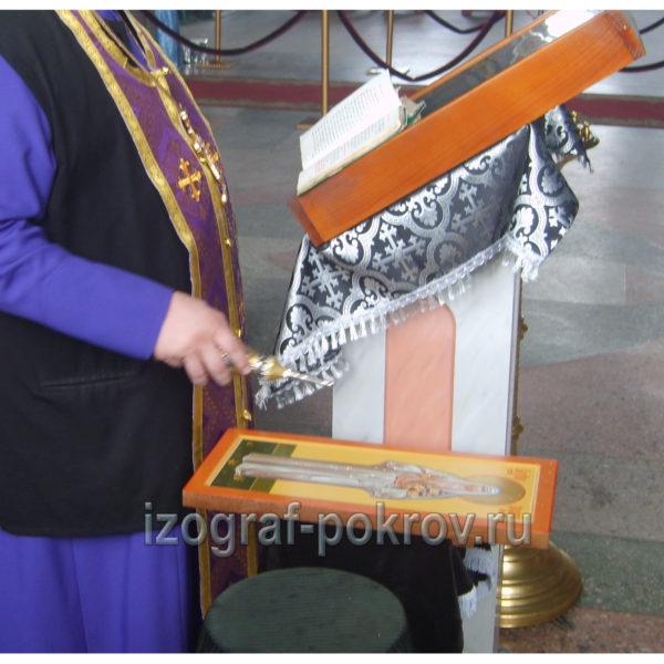 Освящение мерной иконы Елисавета Алапаевская в храме Покрова Пресвятой Богородицы