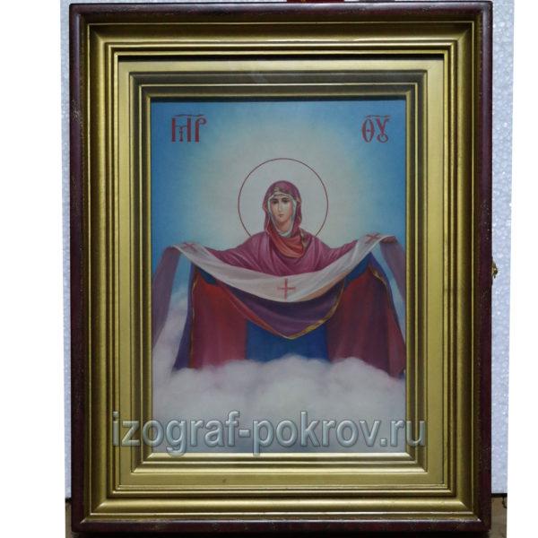 Икона Божией Матери Покров в киоте