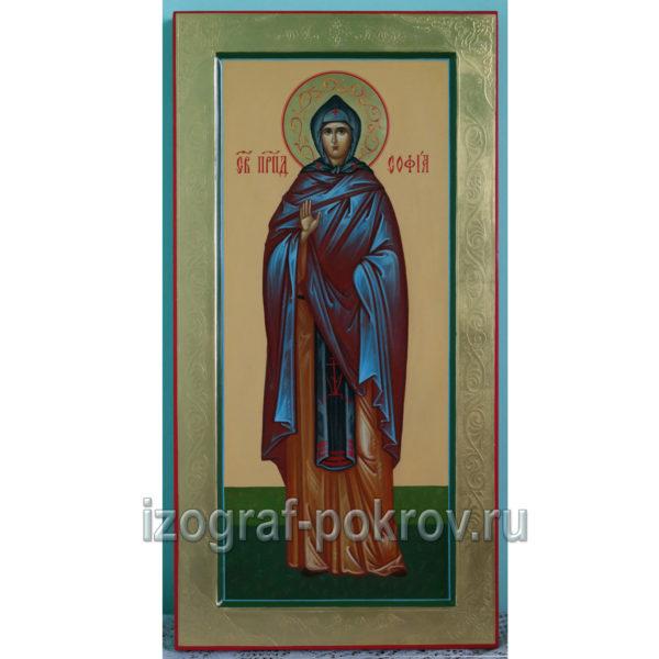 Икона мерная св. София Суздальская преподобная