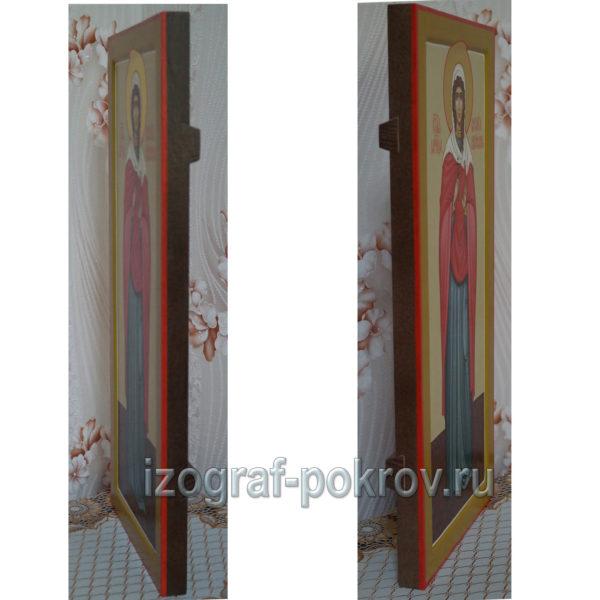 Мерная икона Василиса Коринфская вид сбоку