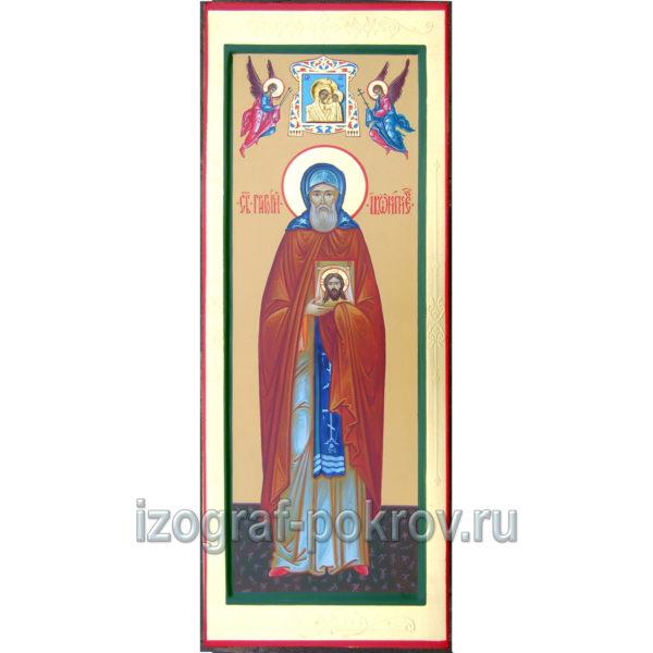 Мерная икона Григорий Иконописец с иконкой Богородицы