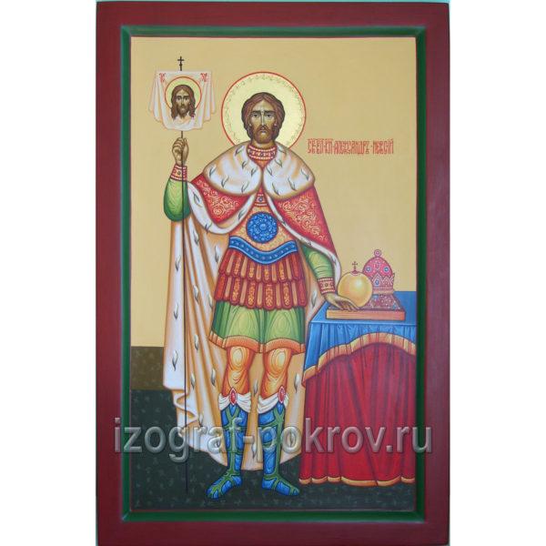 Икона Александр Невский благоверный князь вариант 3