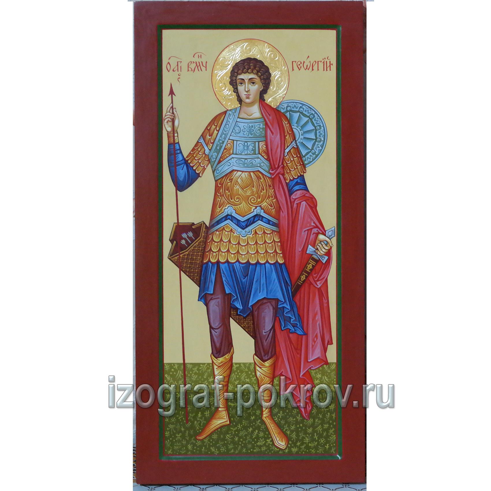 Икона мерная Георгий Победоносец