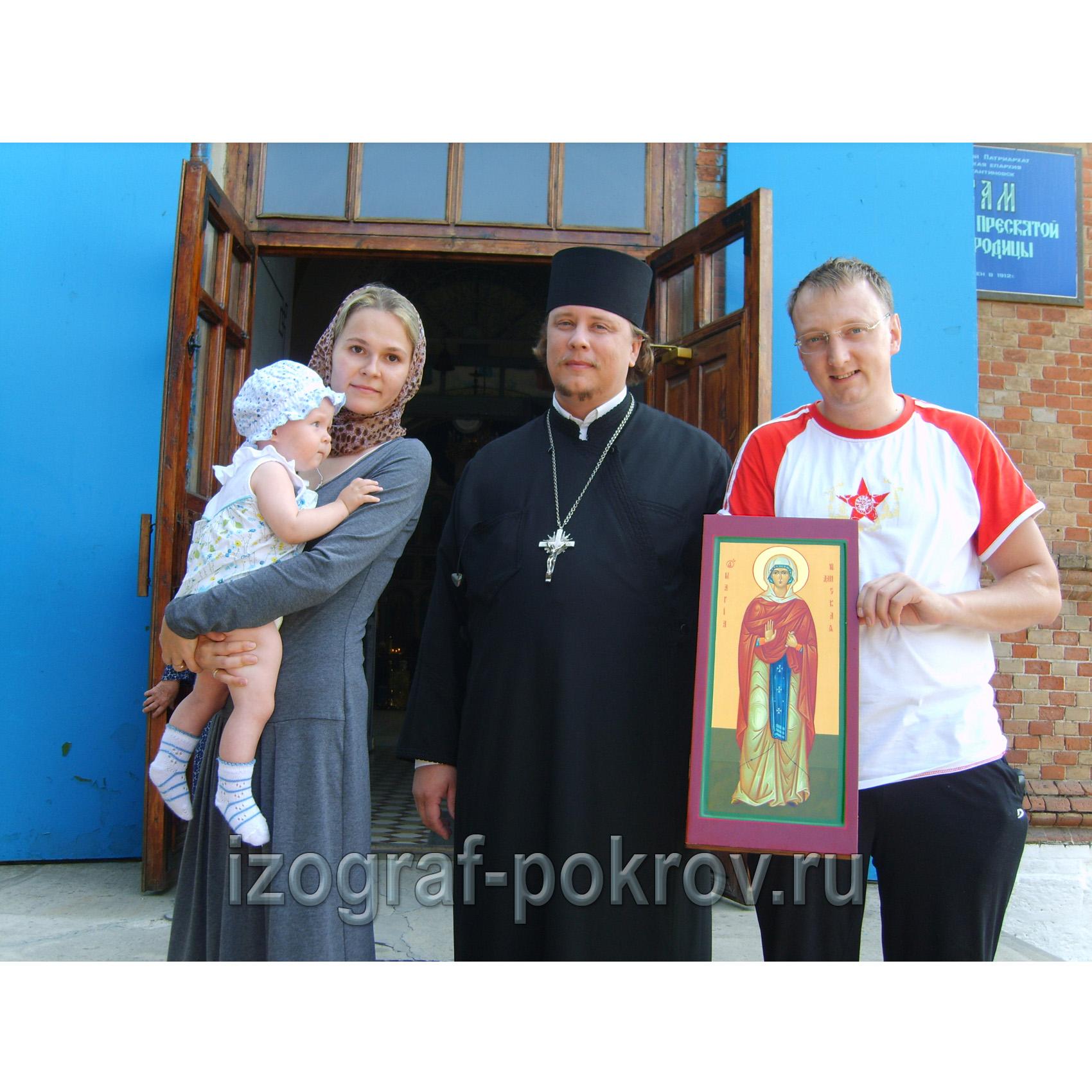 Семья из Москвы приехала на освящение иконы Марии Хиданской в храме Покрова Пресвятой Богородицы