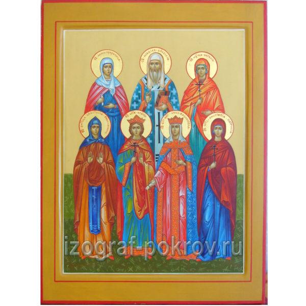 Семейная икона 7 святых покровителей