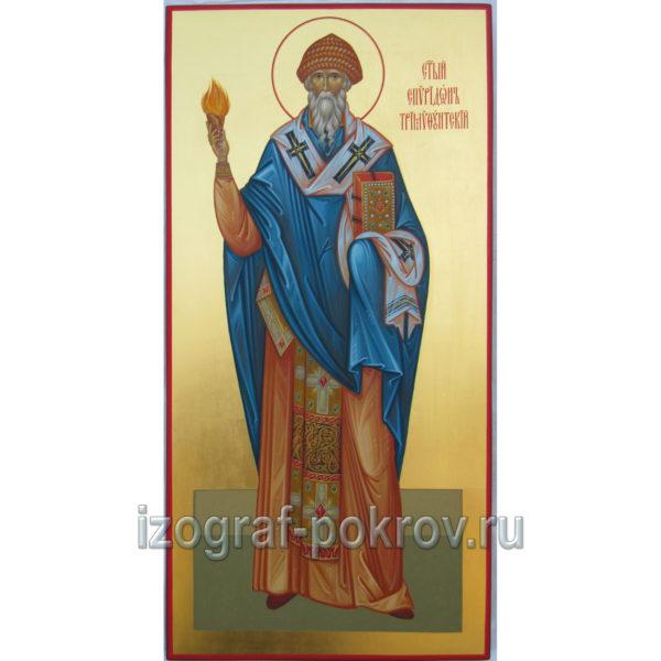 Икона Спиридон Тримифунтский на золоте