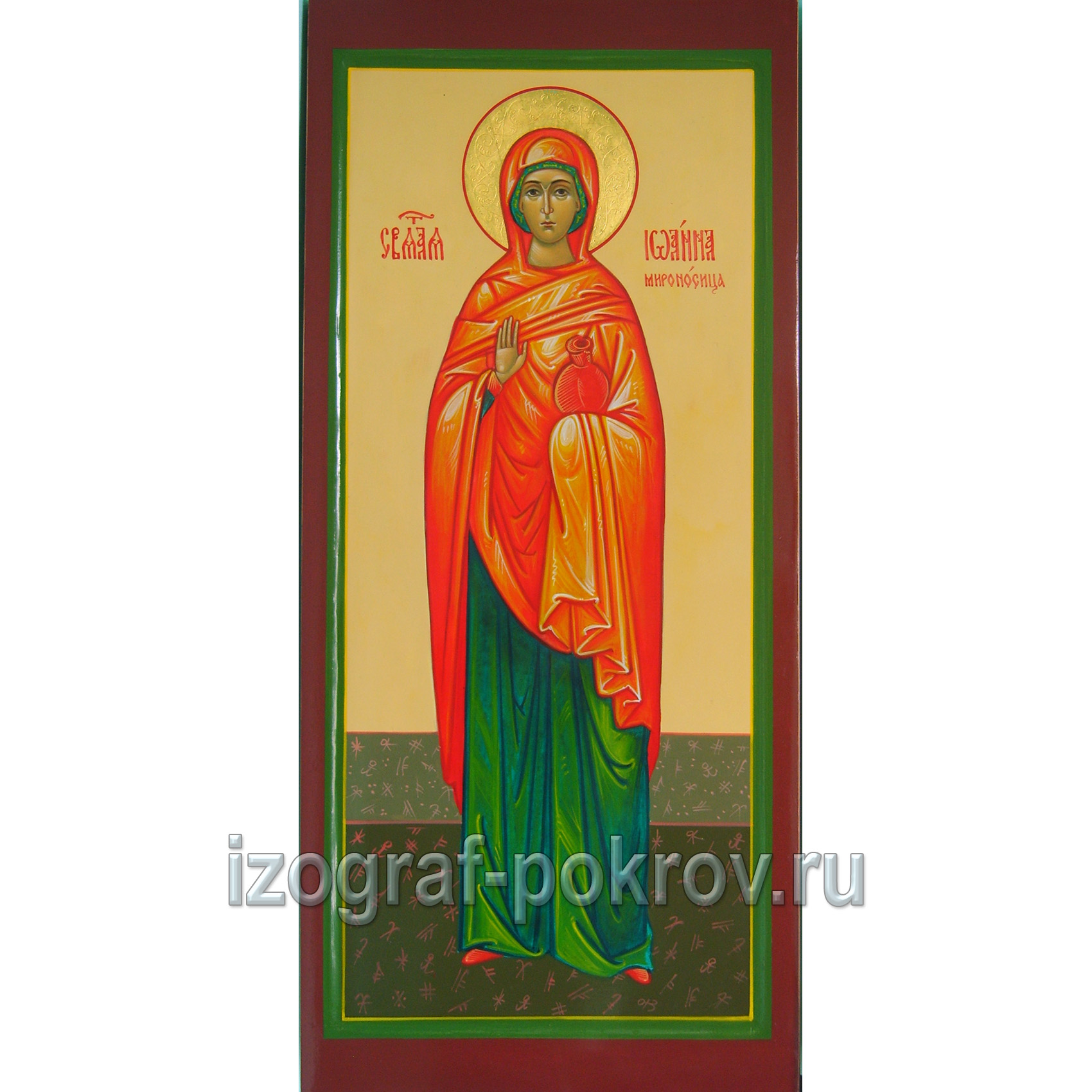Мерная икона святая Иоанна Мироносица