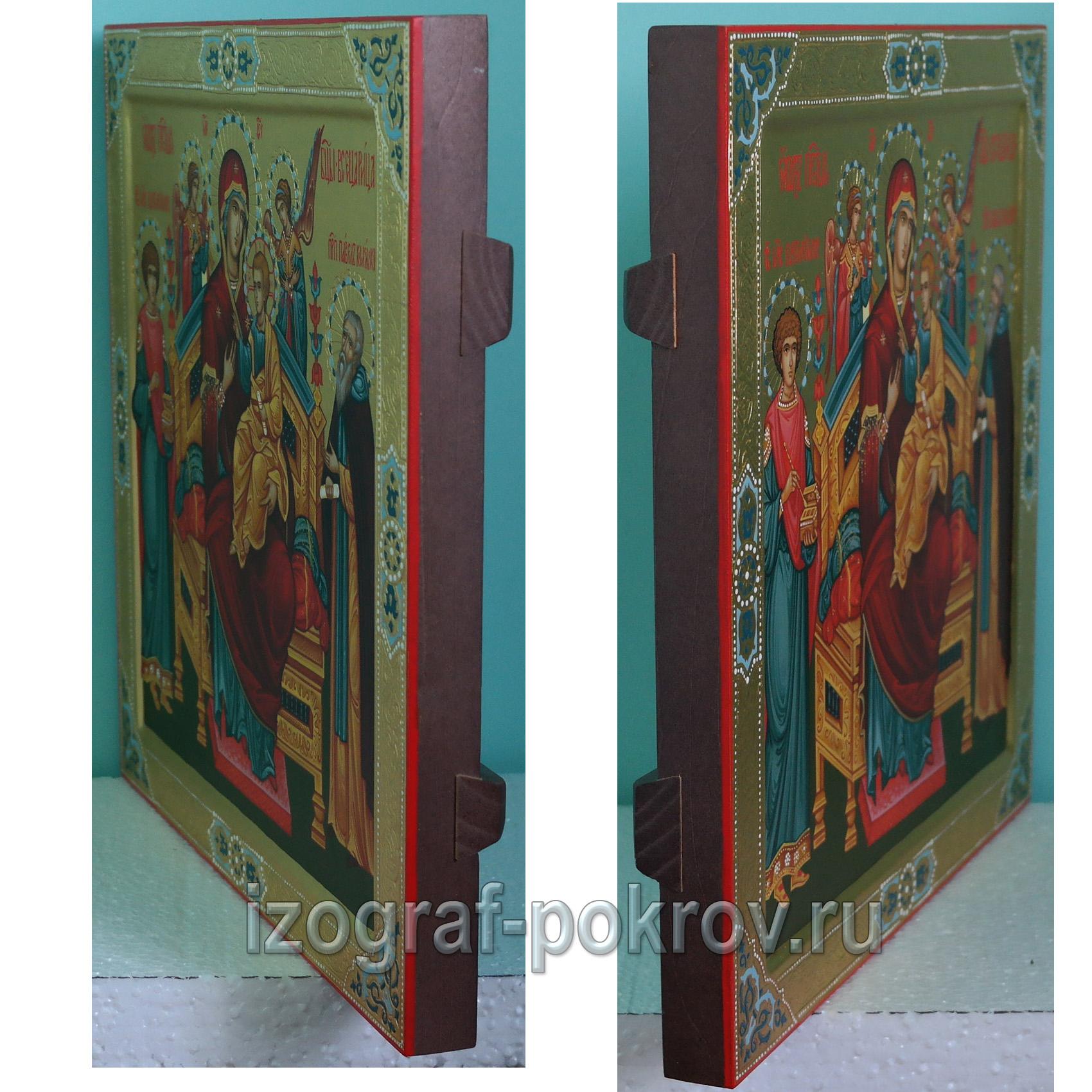 Икона в подарок Павел Комельский вид сбоку