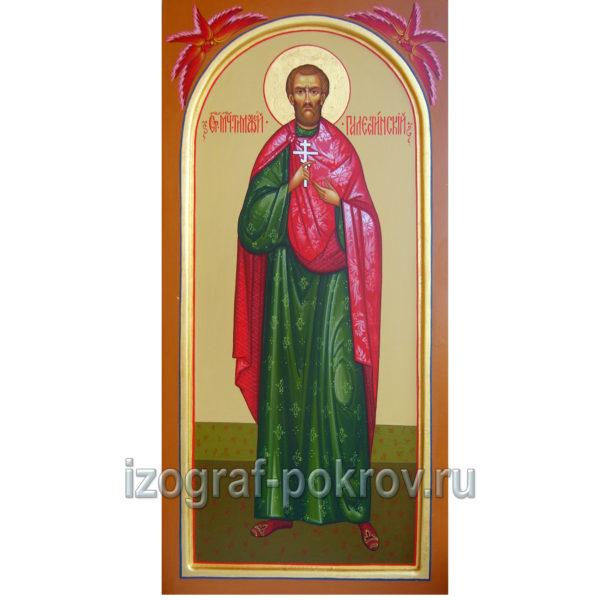 Икона мученик Тимофей Палестинский. Иконописная Покров Констаниновск