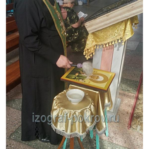 Освящение иконы Матроны Московской в храме Покрова Пресвятой Богородицы