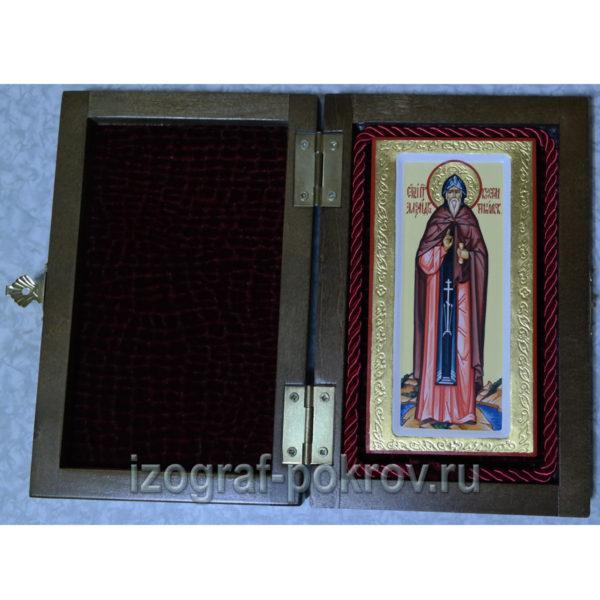 Икона Александр Константинопольский в шкатулке, изготовлена в иконописной мастерской Покров при храме Покрова Пресвятой Богородицы