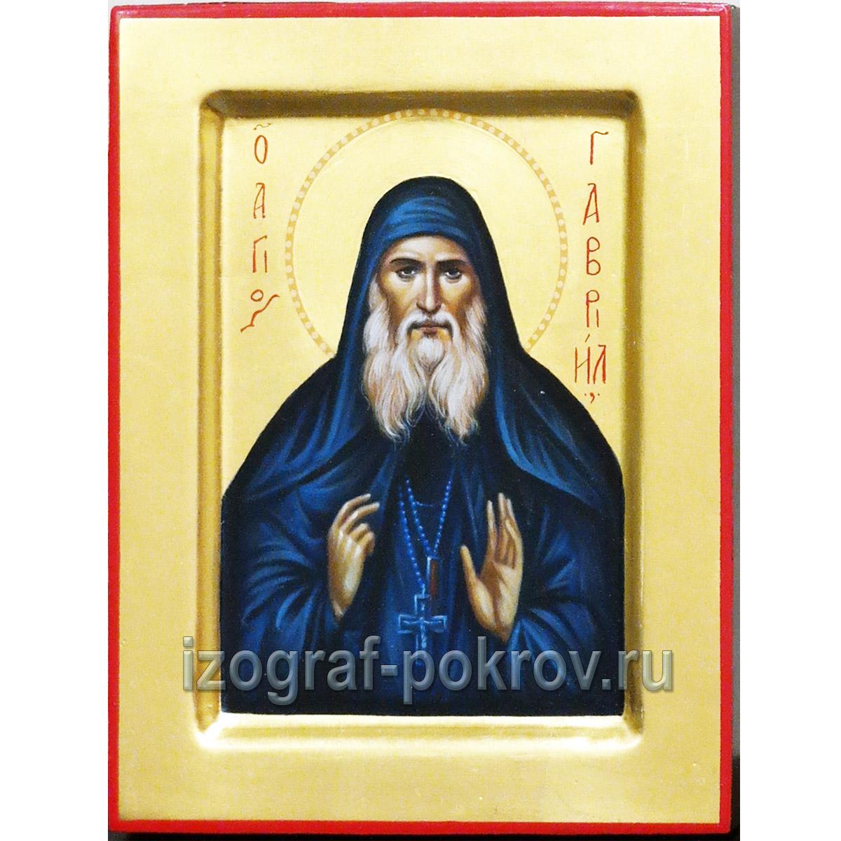 Икона Гавриила Ургебадзе написанная по заказу в иконописной мастерской Покров