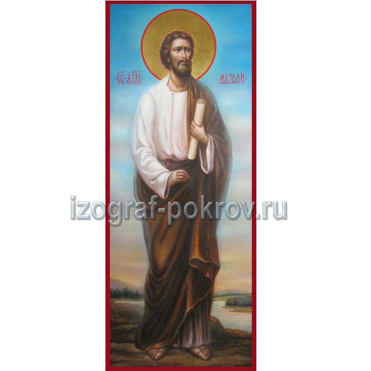 Икона Апостол Матфей (Левий) евангелист. Икона написана под заказ в иконописной мастерской Покров при храме Покрова Пресвятой Богородицы г. Константиновск