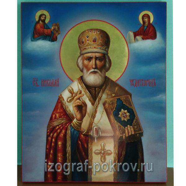 Икона Николай Чудотворец зимний