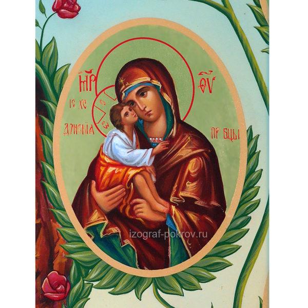 Икона Богородицы Донская - фрагмент с иконы Горний Иерусалим чем помогает значение