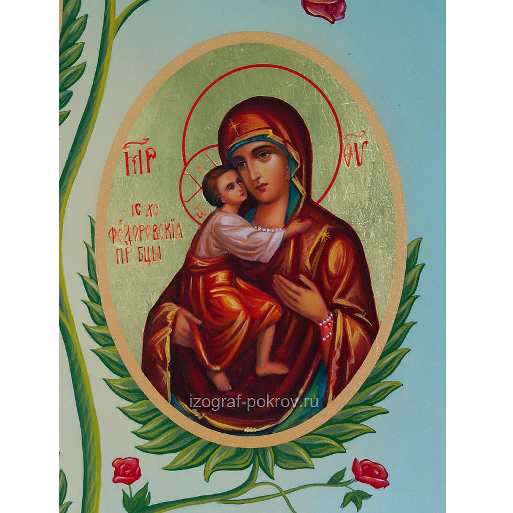 Икона Феодоровская Богородица (фрагмент с иконы Горний Иерусалим) чем помогает значение