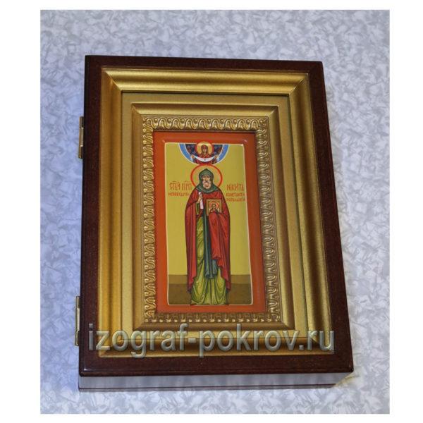Икона Никиты Константинопольского в киоте