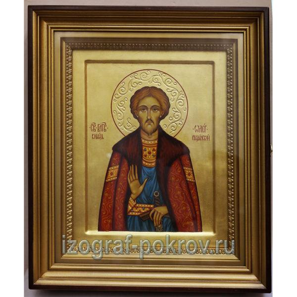Олег Рязанский князь именная икона
