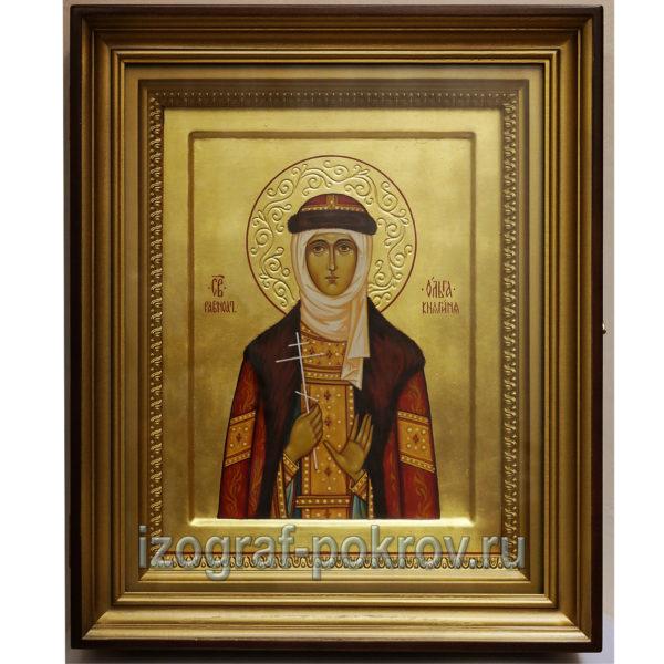 Ольга Равноапостольная княгиня именная икона в киоте