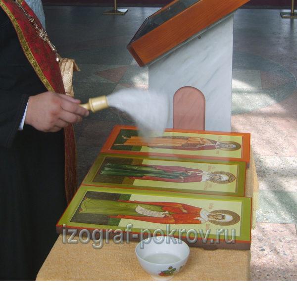 Освящение икон Ксении Петербургской Илии Пророка Валерии Палестинской