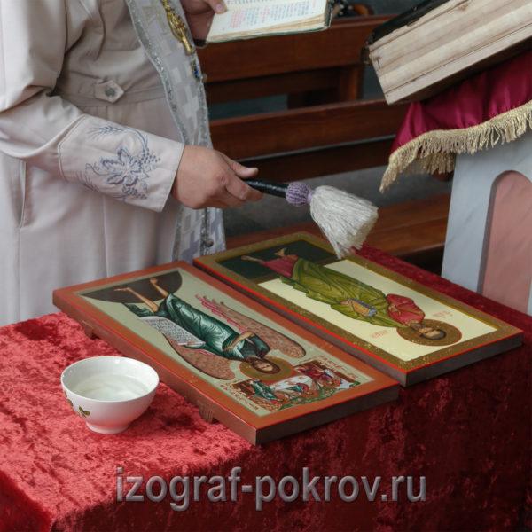 Освящение мерной иконы апостола Матфея. Заказ