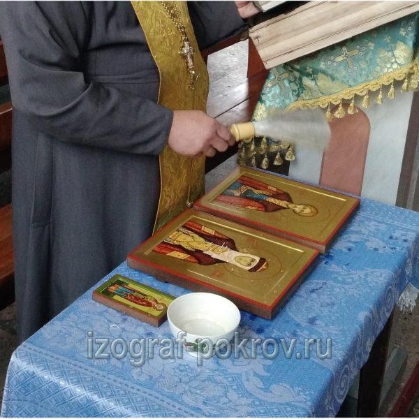 Освящение иконы Олег Рязанский князь