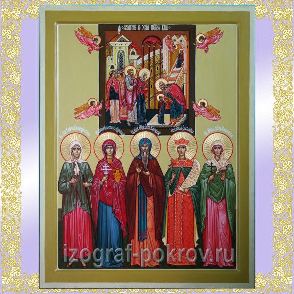 Семейная икона с дополнительной иконой Ctvtqyfz brjyf