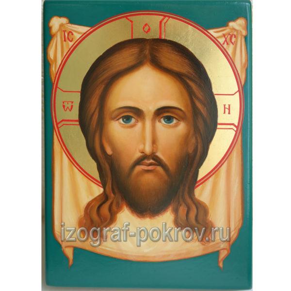 Спас Нерукотворный небольшая икона в иконописной мастерской
