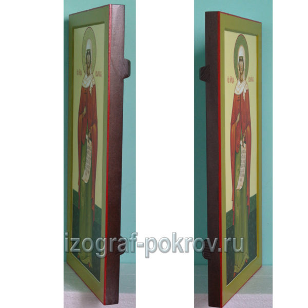 Мерная икона Валерия Калерия Палестинская вид сбоку