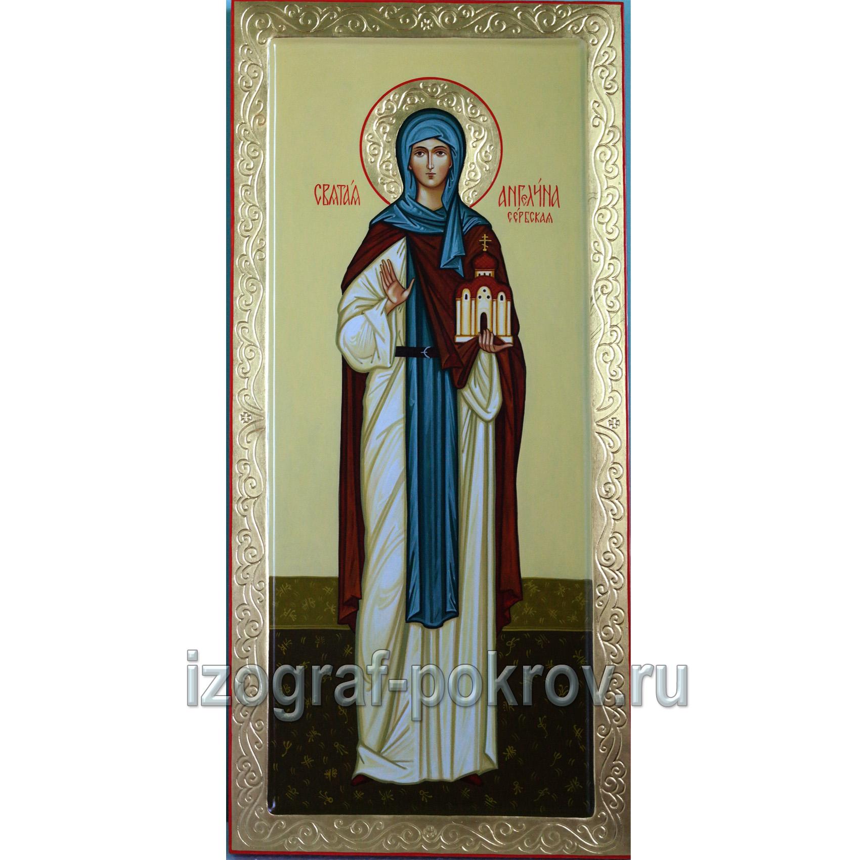 Мерная икона для младенца Ангелина Сербская
