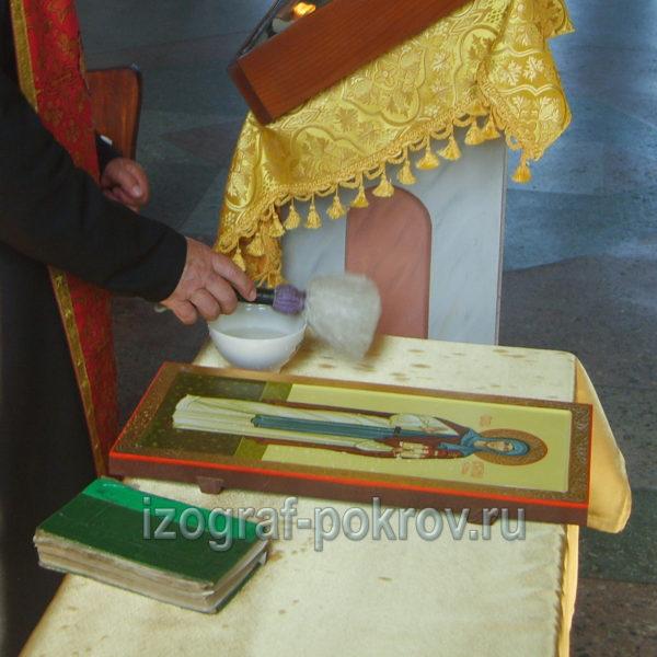 Освящение мерной иконы Ангелина Сербская